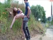 วัยรุ่นเมกา porn ตั้งกล้องไว้ในรถ เอากันข้างถนนเล่นท่าหมาซอยเสียวรีบเย็ดรีบกลับ