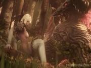 หลุดเมื่อหนังการ์ตูนมาทำหักมุม นางเอกสาวสวยโดนสัตว์ประหลาดจับเย็ดตัวอย่างใหญ่ควยเท่าเสาเสียบสดหีแทบฉีก เด็ดชิพหาย
